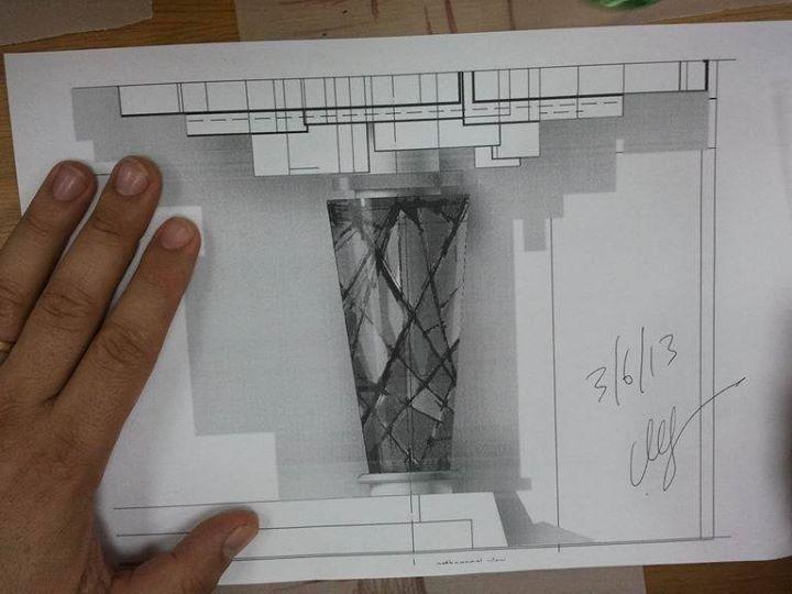 sketch of aron a-kodesh