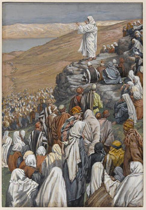 James Tissot. The Sermon on the Mount