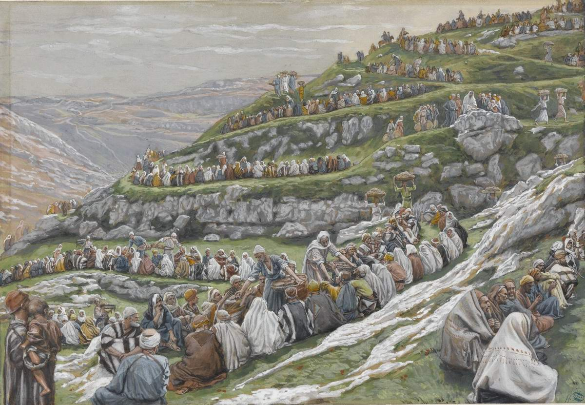 James Tissot. The-Miracle of the Loaves and Fishes (1896)