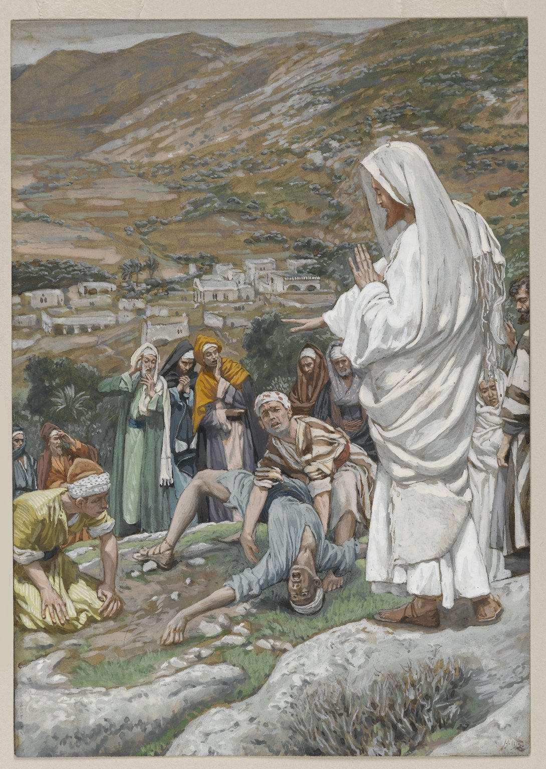 James Tissot. The Possessed Boy at the-Foot of Mount Tabor