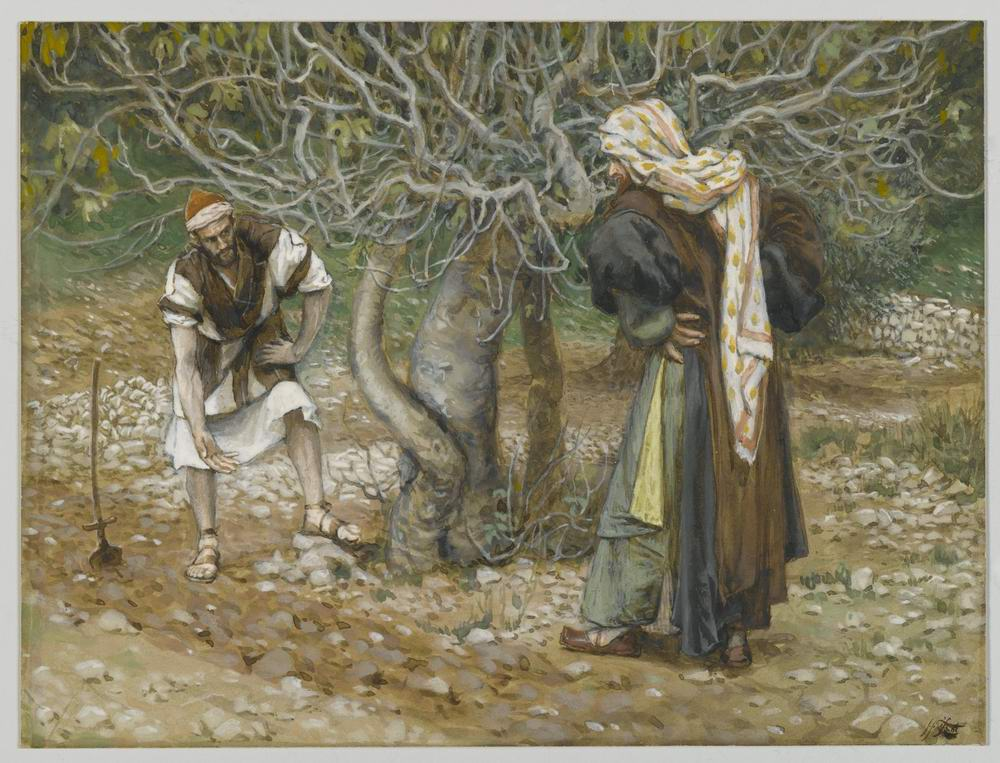 James Tissot. The Vine Dresser and the Fig Tree